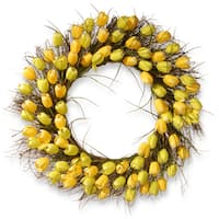 "32"" Yellow Tulip Wreath"