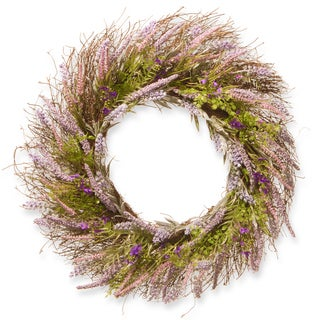 National Tree Company Purple Plastic 24-inch Lavender Wreath
