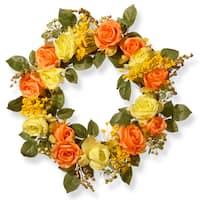 20-inch Spring Rose Wreath