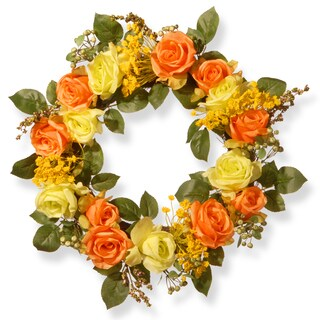 20-inch Spring Rose Wreath