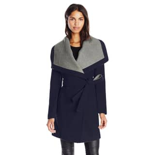 BCBGeneration Navy Belted Wool Blend Wrap Coat|https://ak1.ostkcdn.com/images/products/13251223/P19964960.jpg?impolicy=medium