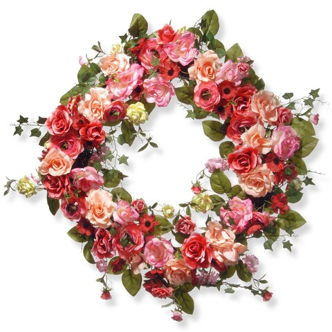 The National Tree Company Polyester 32-inch Spring Wreath