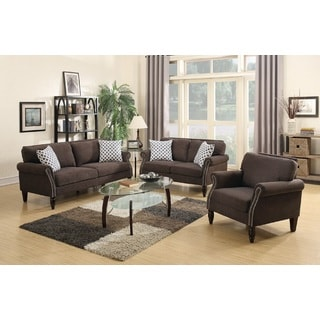 Sisian 3 Piece Living Room Set Upholstered in Velveteen Fabric