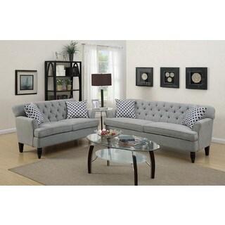 Alaverdi Loveseat and Sofa Upholstered in Velveteen Fabric