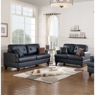 Kajaran Loveseat and Sofa in Genuine Leather Match