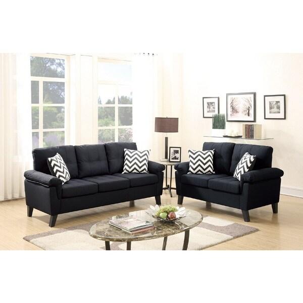 Ashtarak Polyfiber Loveseat and Sofa Set