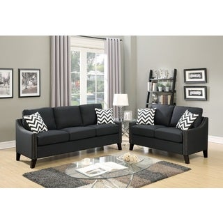 Graz Loveseat and Sofa Upholstered in Polyfiber