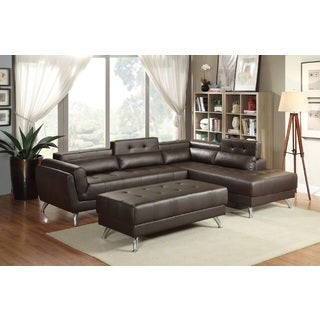 Gotzis Bonded Leather Sectional Sofa