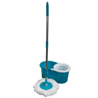 Magic Mop Microfiber Head Plastic 360-degree Mop and Bucket