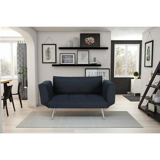 Novogratz Euro Futon with Magazine Storage