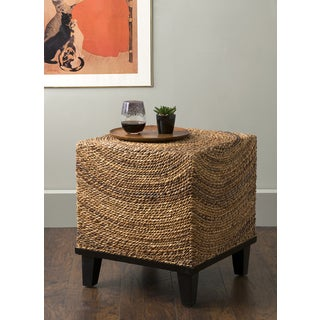 East At Main's Chruchill Brown Abaca Square Accent Table