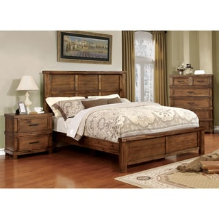Furniture of America Stamson Rustic 3-piece Antique Oak Bedroom Set
