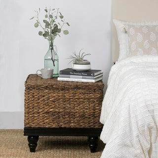 East At Main's Cambridge Brown Abaca Square Accent Table