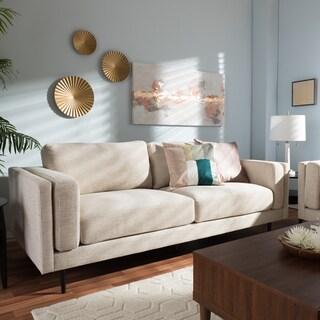 Baxton Studio Eurybia Mid-Century Modern Upholstered Loveseat
