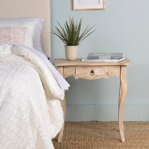 """East At Main's Benton Brown Rubberwood Rectangle Accent Table - 26"""" x 18"""" x 26"""""""