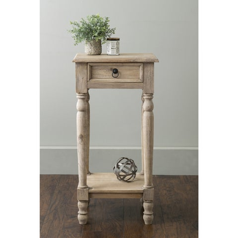 East At Main's Argo Brown Rubberwood Square Accent Table