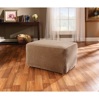 Sure Fit Stretch Stripe Ottoman Slipcover