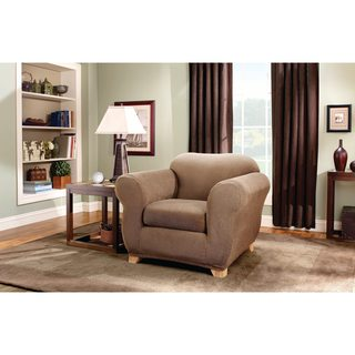Sure Fit Stretch Stripe 2-Piece Chair Slipcover