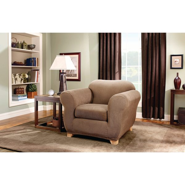 Sure Fit Stretch Stripe 2 Piece Chair Slipcover