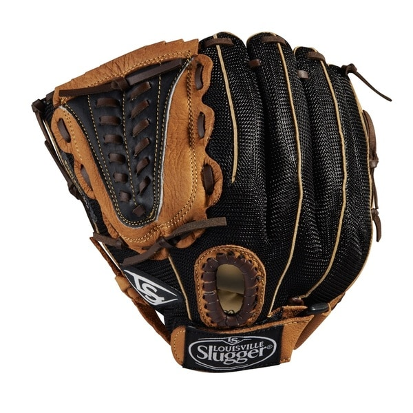 Louisville Slugger Genesis Black/Tan Leather 11.5-inches Outfield Baseball Glove