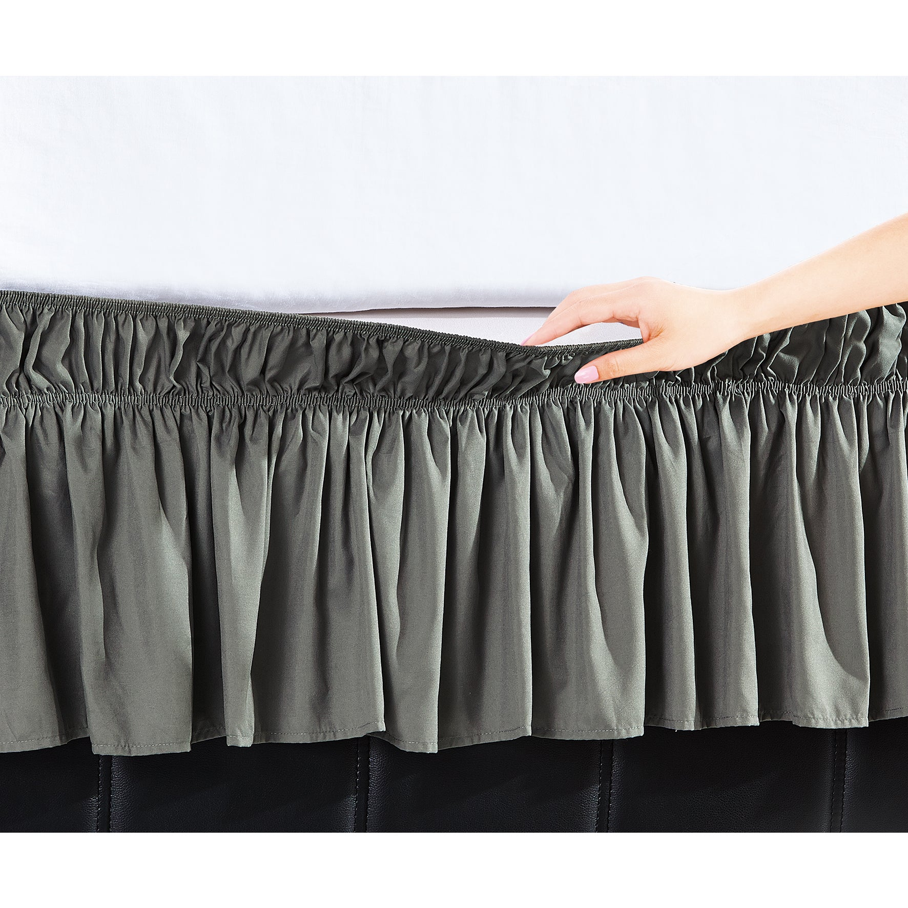 Copper Grove Yarrow Easy Wrap Platform Free 16 Inch Drop Bed Skirt Overstock 20370465