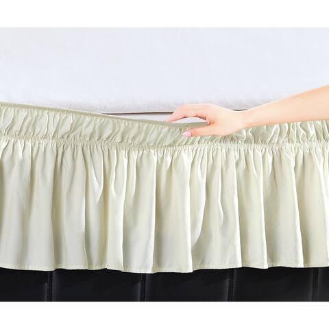 Copper Grove Yarrow Easy Wrap Platform-Free 16-inch Drop Bed Skirt