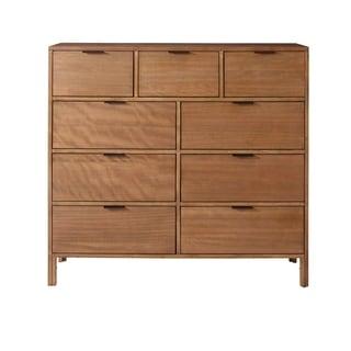 Progressive Brown Veneer/Rubberwood/MDF 9-drawer Dresser