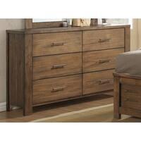 Progressive 'Brayden' Brown Rubberwood and Veneer 6-drawer Dresser