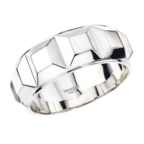 Ever One Women's Sterling Silver Box Bangle