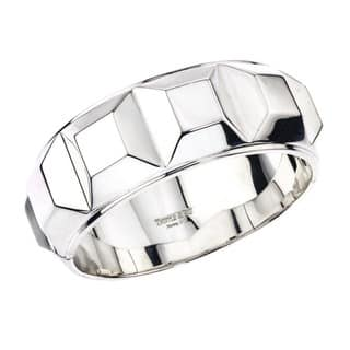 Ever One Women's Sterling Silver Box Bangle|https://ak1.ostkcdn.com/images/products/13251713/P19965385.jpg?impolicy=medium