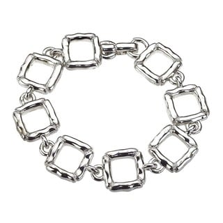 Sterling Silver Slim Quilted Bracelet