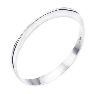 Ever One Forged Sterling Silver Thick Bangle
