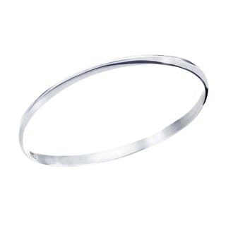 Ever One Forged Sterling Silver Thin Bangle
