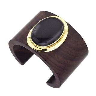 18k Vermeil Gold Rosewood Onyx Cuff