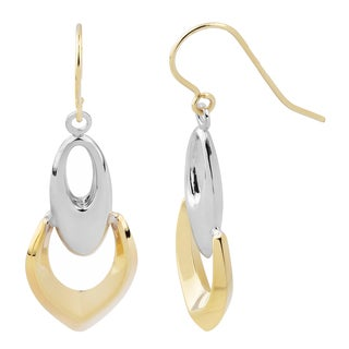 Fremada 14k Two-tone Gold Stylish Dangle Earrings