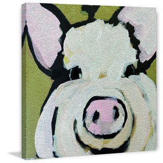 Marmont Hill - 'Modern Pig' by Michelle Rivera Painting Print on Wrapped Canvas