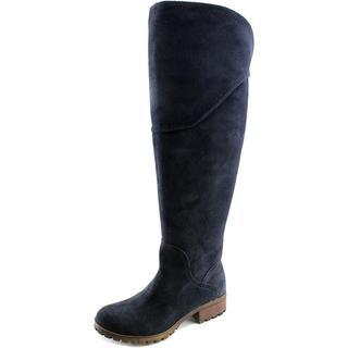 Lucky Brand Women's 'Harleen Wide Calf' Regular Blue Suede Boots