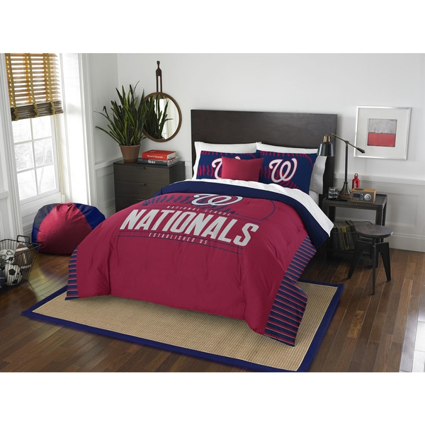 The Northwest Company MLB 849 Nationals Grandslam Full/Queen 3-piece Comforter Set