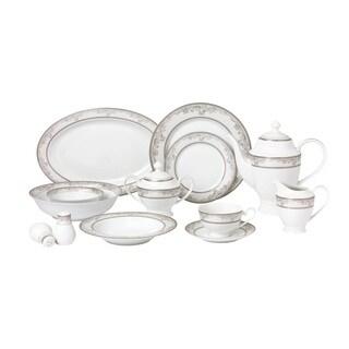 57 Piece Dinnerware Set-New Bone China Service for 8 People-Juliette