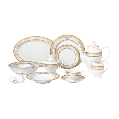 57-piece Bone China Dinnerware Set for 8 People - Chloe