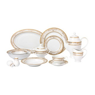 57piece bone china dinnerware set for 8 people chloe