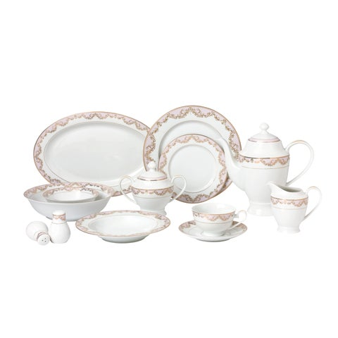 57-piece Bone China Dinnerware Set - Beauty