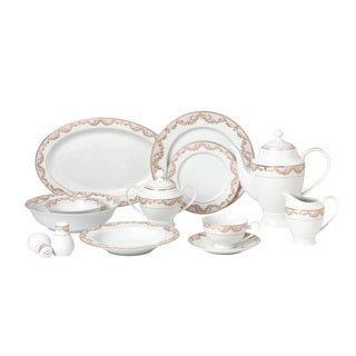 57-piece Bone China Dinnerware Set - Beauty