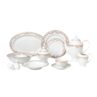 57-piece Bone China Dinnerware Set - Beauty  sc 1 st  Overstock.com & Formal Dinnerware For Less | Overstock.com