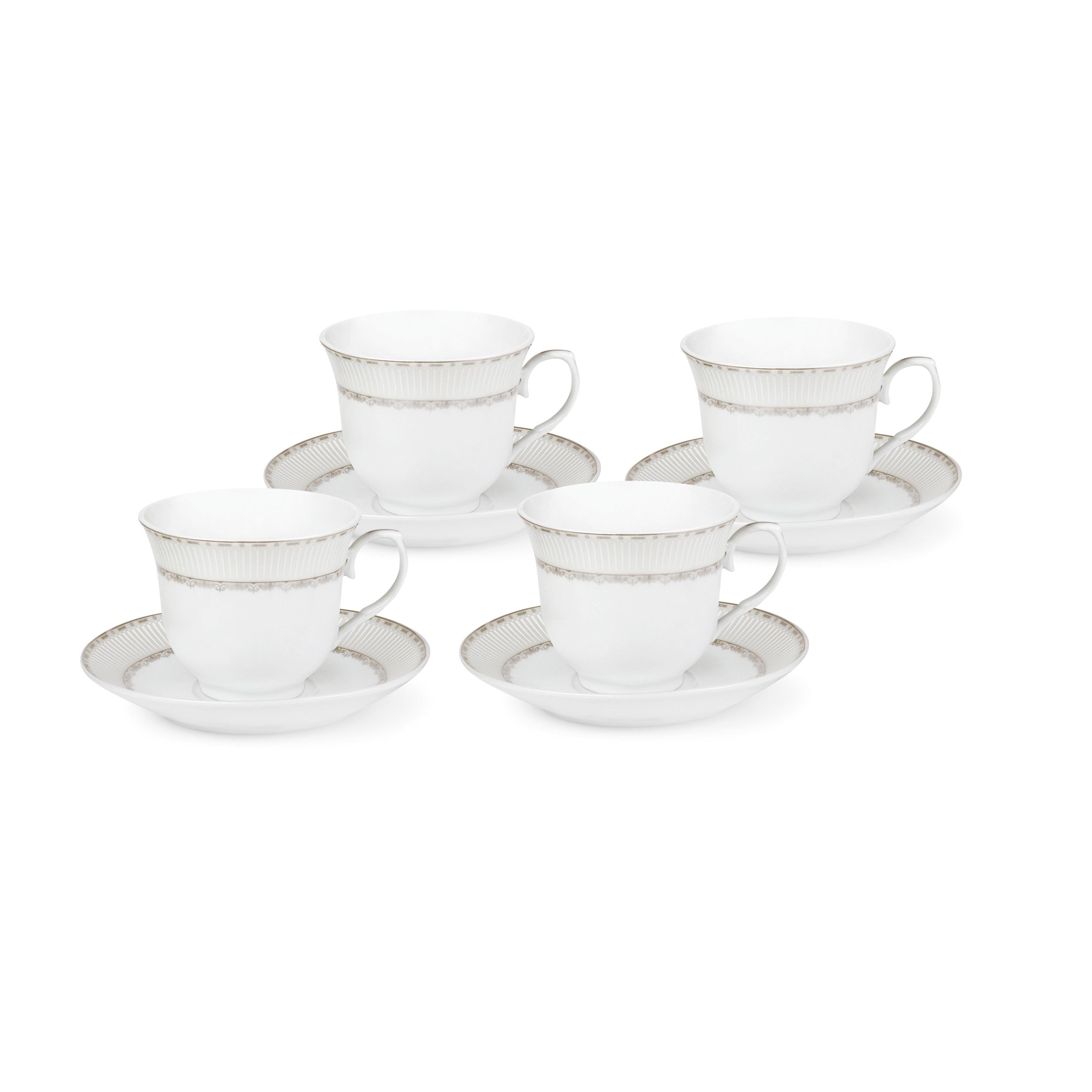Lorren Home Trends Silver-design Service for 4 Tea/Coffee...