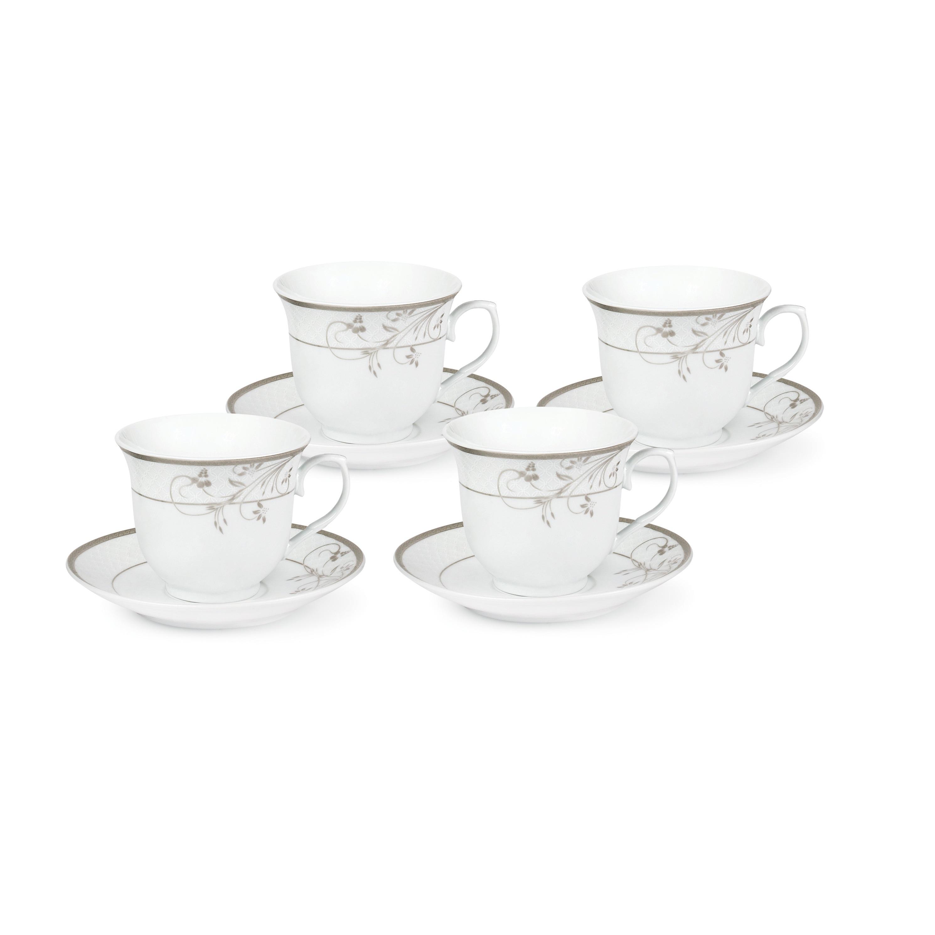 Lorren Home Trends Silver Floral Design Tea Service or Co...