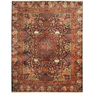 Herat Oriental Persian Hand-knotted Tribal Kashmar Wool Rug (10' x 12'8)