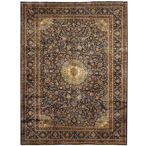 Herat Oriental Persian Hand-knotted Tribal Kashmar Wool Rug (9'9 x 13') - 9'9 x 13'