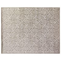 Exquisite Rugs Super Tibetan Silver New Zealand Wool and silk Rug (9' x 12') - 9' x 12'
