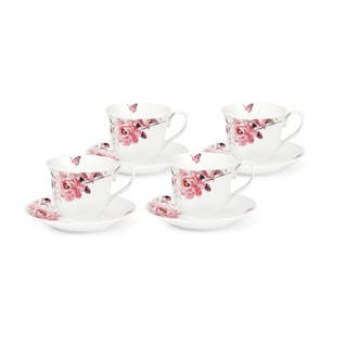 Pink Floral and Butterfly Tea/Coffee Set (Service for 4)|https://ak1.ostkcdn.com/images/products/13252092/P19965704.jpg?impolicy=medium